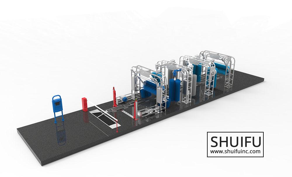 SHUIFU WASH TUNNEL AUTOMATIC CARWASH MACHINE