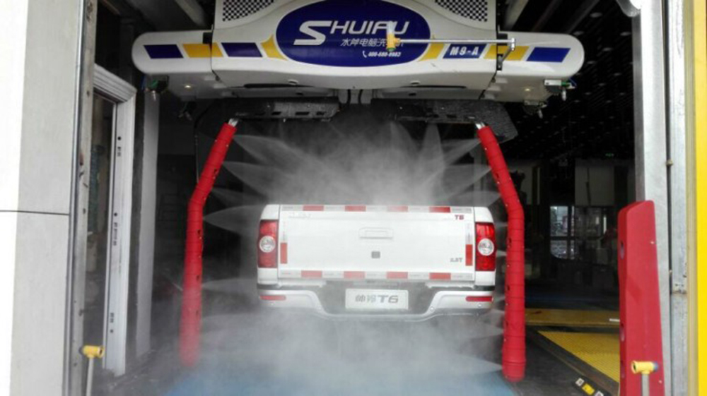 drive through car wash of touchless double arm M9-made-by-SHUIFU-CHINA