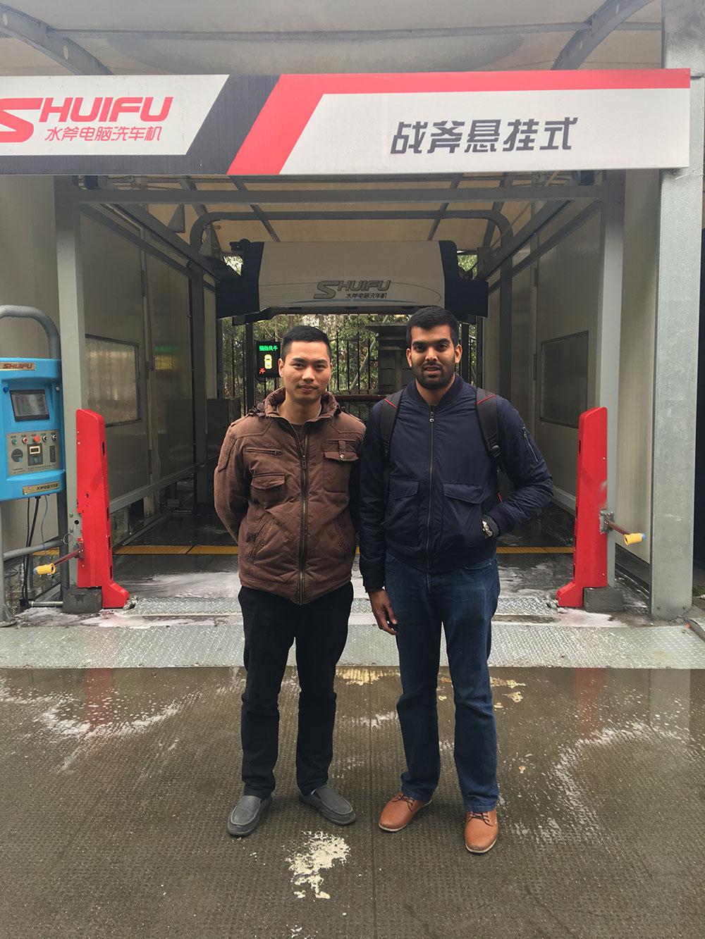 trinidad-and-tobago-south-america-touchless-car-wash-machine-customer-visit-shuifu-vehicle-washing-systems-and-factory
